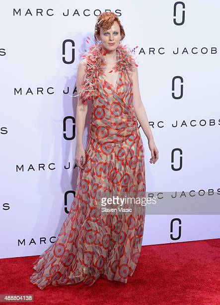 Karen Elson walks the runway at the Marc Jacobs Spring 2016 fashion show during New York Fashion Week at Ziegfeld Theater on September 17 2015 in New...