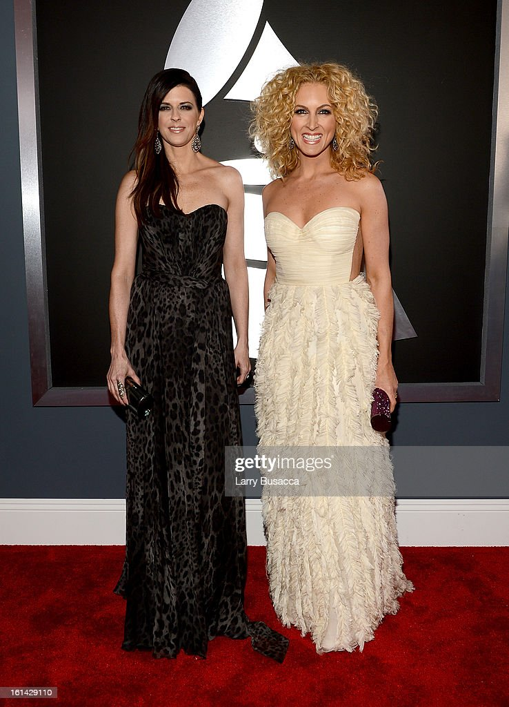 Karen Fairchild and Kimberly Schlapman of 'Little Bigtown' attends the 55th Annual GRAMMY Awards at STAPLES Center on February 10, 2013 in Los Angeles, California.