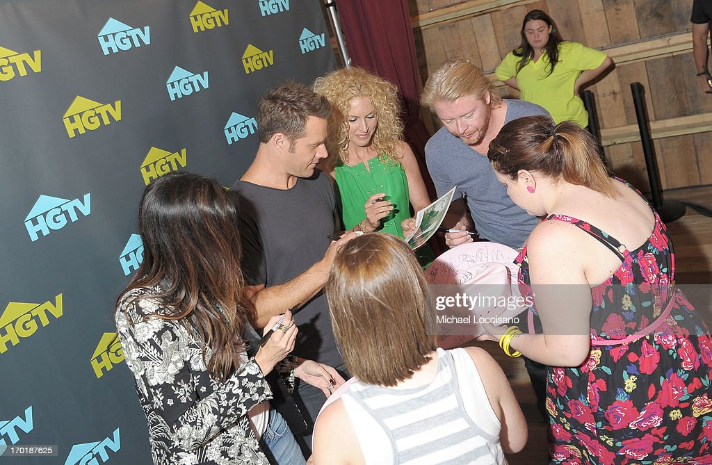 Karen Fairchild, Jimi Westbrook, Kimberly Schlapman, and Philip Sweet of Little Big Town attend HGTV'S The Lodge At CMA Music Fest - Day 3 on June 8, 2013 in Nashville, Tennessee.