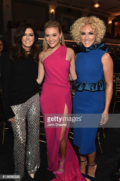 Karen Fairchild of Little Big Town Kelsea Ballerini and Kimberly Schlapman of Little Big Town pose for photos during CMT Artists of the Year 2016 on...