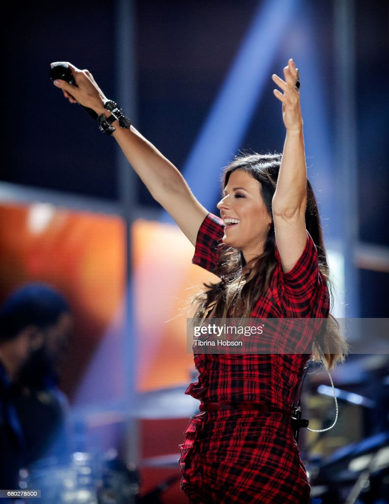 Karen Fairchild of Little Big Town performs the 2017 iHeartCountry Music Festival at The Frank Erwin Center on May 6, 2017 in Austin, Texas.