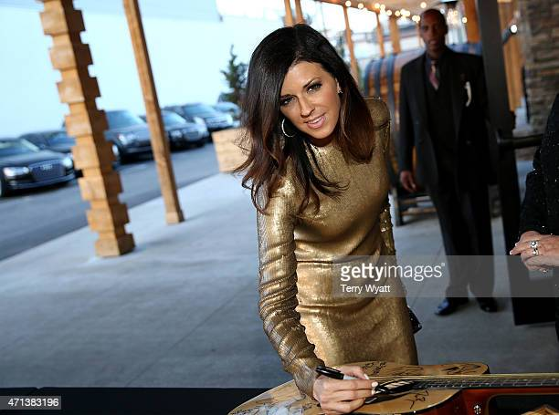 Karen Fairchild of the music group Little Big Town attends the 16th Annual Nashville Best Cellars Dinner hosted by the TJ Martell Foundation at City...