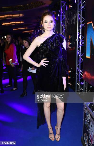 Karen Gillan attends the European launch event of Marvel Studios' 'Guardians of the Galaxy Vol 2' at the Eventim Apollo on April 24 2017 in London...