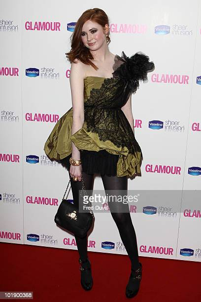 Karen Gillan attends the Glamour Women of the Year awards at Berkeley Square Gardens on June 8 2010 in London England