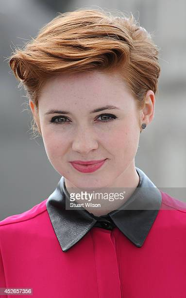 Karen Gillan attends the 'Guardians of the Galacy' photocall on July 25 2014 in London England