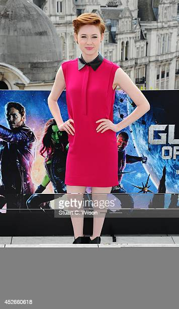 Karen Gillan attends the 'Guardians of the Galaxy' photocall on July 25 2014 in London England