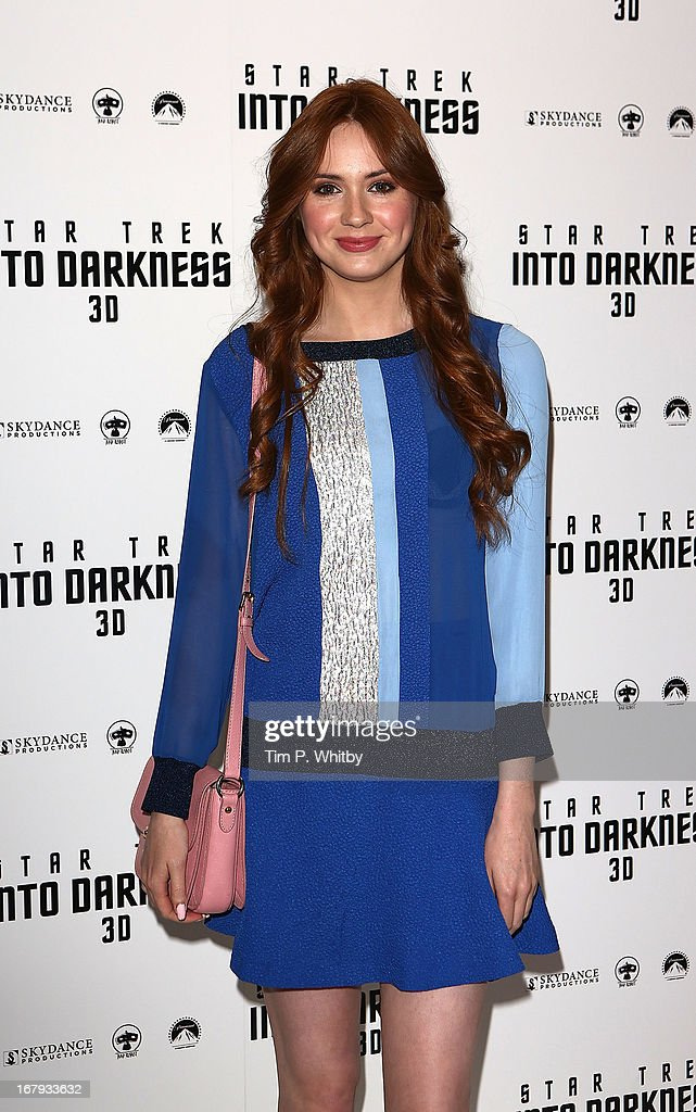 Karen Gillan attends the IMAX 3D Premiere of 'Star Trek Into Darkness' at BFI IMAX on May 2, 2013 in London, England.