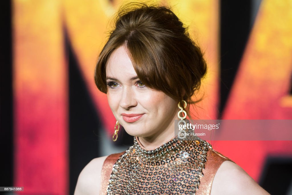 Karen Gillan attends the 'Jumanji: Welcome To The Jungle UK premiere held at Vue West End on December 7, 2017 in London, England.