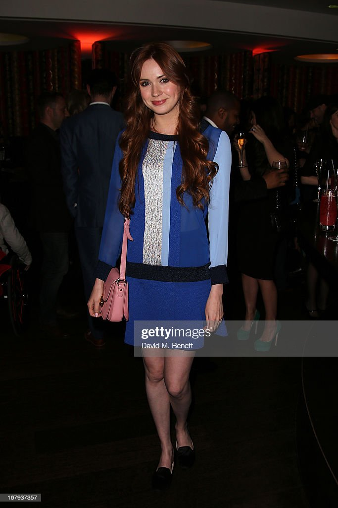 <a gi-track='captionPersonalityLinkClicked' href=/galleries/search?phrase=Karen+Gillan&family=editorial&specificpeople=6876471 ng-click='$event.stopPropagation()'>Karen Gillan</a> attends the UK Premiere - After Party of 'Star Trek Into Darkness' at Aqua on May 2, 2013 in London, England.