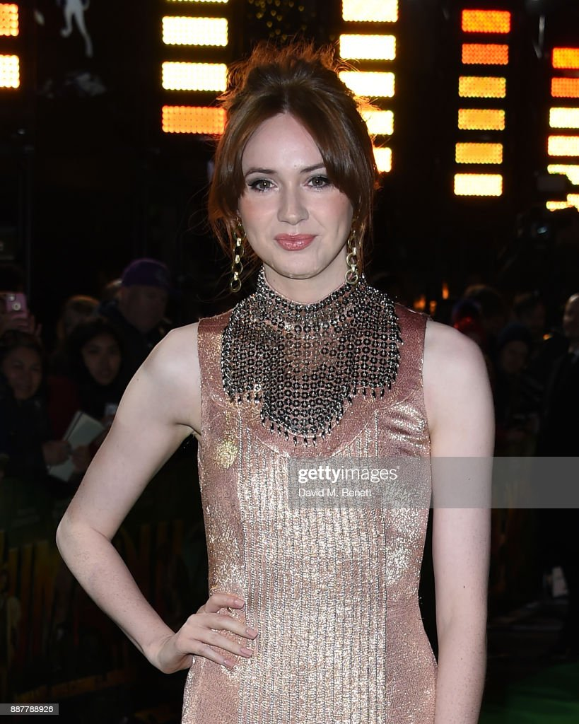 Karen Gillan attends the UK Premiere of 'Jumanji: Welcome To The Jungle' at Vue West End on December 7, 2017 in London, England.