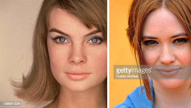 In this composite image a comparison has been made between Jean Shrimpton and actress Karen Gillan The film biopic 'We'll Take Manhattan' airing in...
