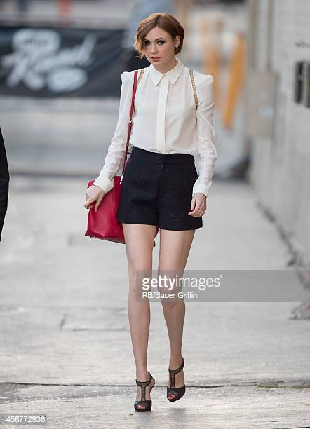 Karen Gillan is seen at 'Jimmy Kimmel Live' on October 06 2014 in Los Angeles California