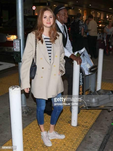 Karen Gillan is seen at Los Angeles International Airport on May 28 2017 in Los Angeles California