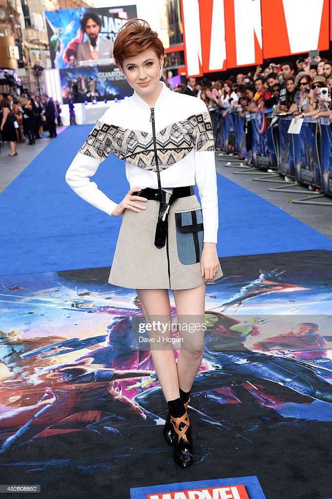 Karen Gillian attends the European premiere of 'Guardians Of The Galaxy' at The Empire Leicester Square on July 24, 2014 in London, England.