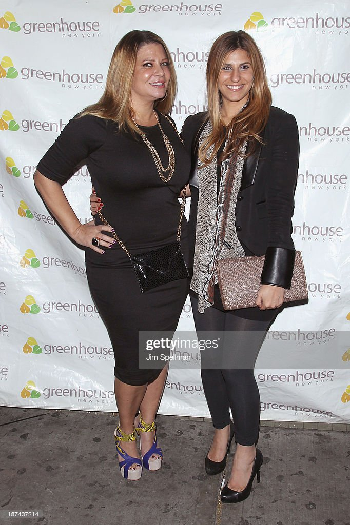 Karen Gravano and Chanel Omari attend the 'Americas Next Top Model Boys vs Girls' Cycle 20 Season Finale Party at Greenhouse on November 8 2013 in...