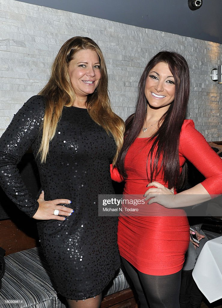 Karen Gravano and Deena Cortese attend 'Jerseylicious' Season 5 Premiere Party at Midtown Sutton on January 28, 2013 in New York City.