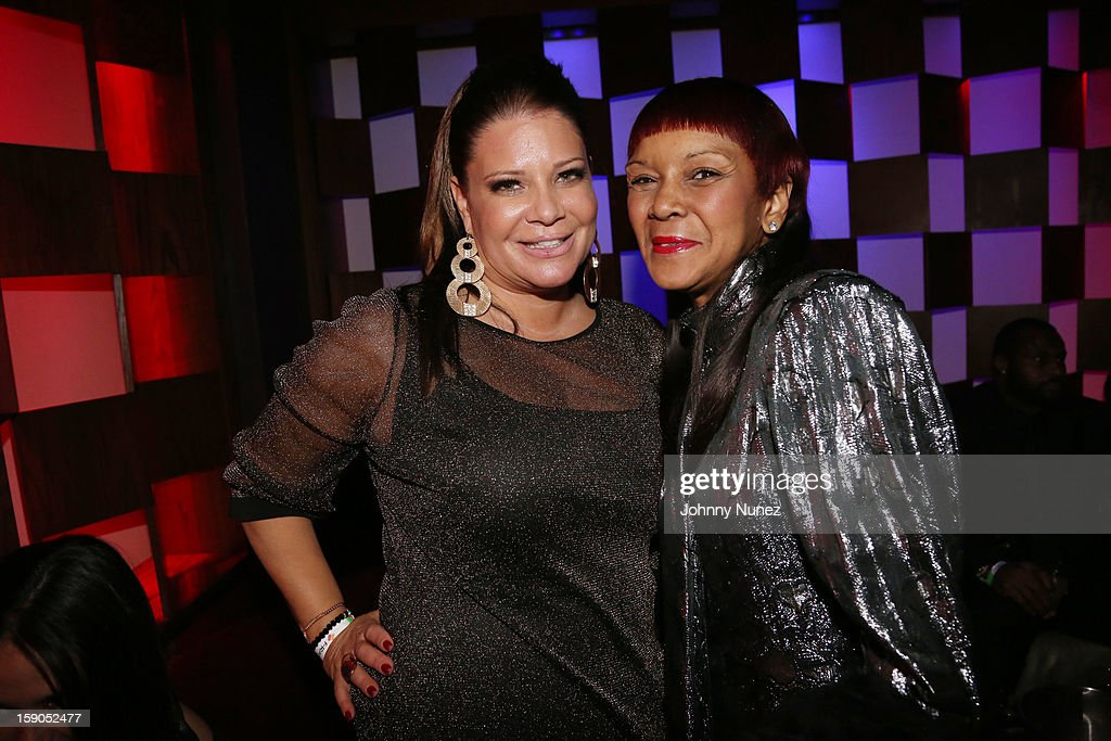 Karen Gravano and Nancy Jones attend VH1's 'Mobwives' Season 3 Premiere Viewing Party at Frames Bowling Lounge on January 6, 2013 in New York City.