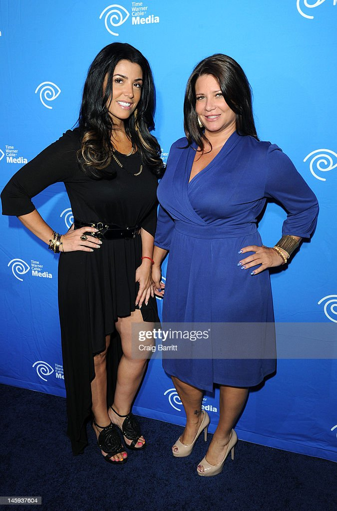 Karen Gravano and Ramona Rizzo attend the Time Warner Cable Media 'Cabletime' Upfront at Yotel Hotel on June 7, 2012 in New York City.