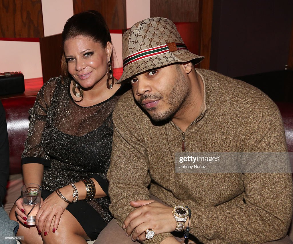 Karen Gravano and Storm attend VH1's 'Mobwives' Season 3 Premiere Viewing Party at Frames Bowling Lounge on January 6, 2013 in New York City.