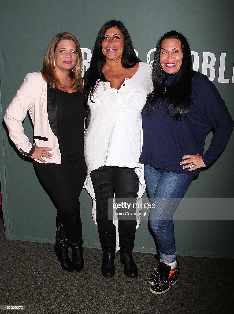 Karen Gravano Angela 'Big Ang' Raiola and Renee Graziano attend the 'Mob Wives' visit Barnes Noble Tribeca at Barnes Noble Tribeca on March 5 2015 in...