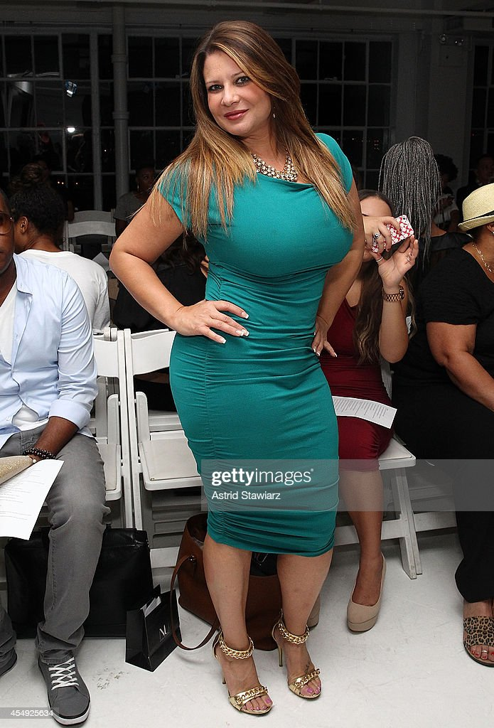Karen Gravano attends Nina Athanasiou Spring 2015 fashion show at MercedesBenz Fashion Week Spring 2015 held at The Designer's Loft on September 7...