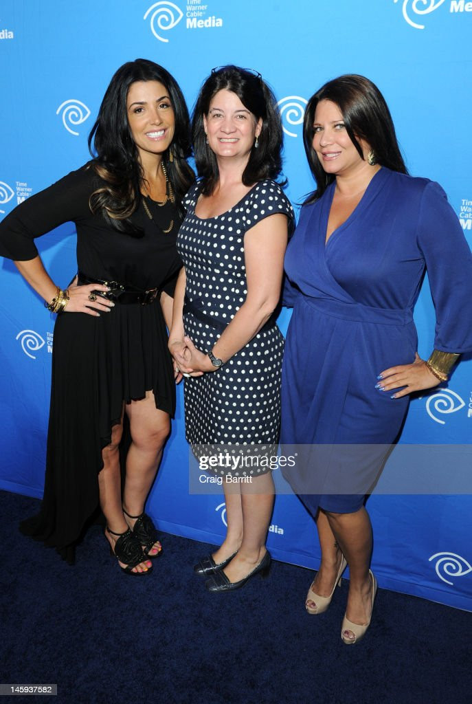 Karen Gravano, Joan Hogan Gillman and Ramona Rizzo attend the Time Warner Cable Media 'Cabletime' Upfront at Yotel Hotel on June 7, 2012 in New York City.
