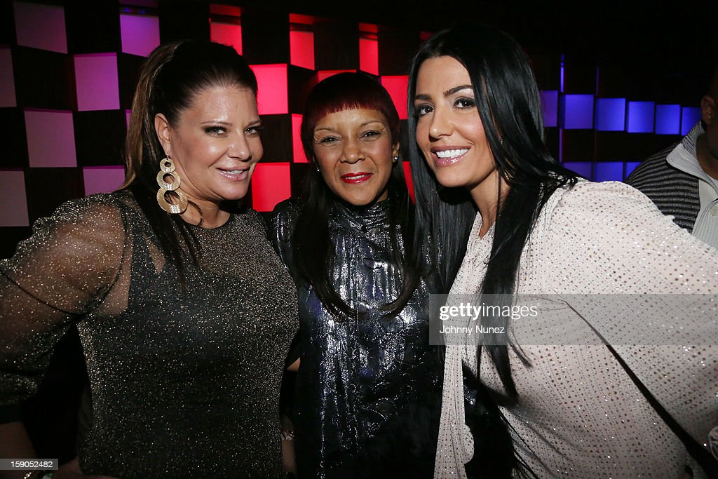 Karen Gravano, Nancy Jones and Ramona Rizzo attend VH1's 'Mobwives' Season 3 Premiere Viewing Party at Frames Bowling Lounge on January 6, 2013 in New York City.
