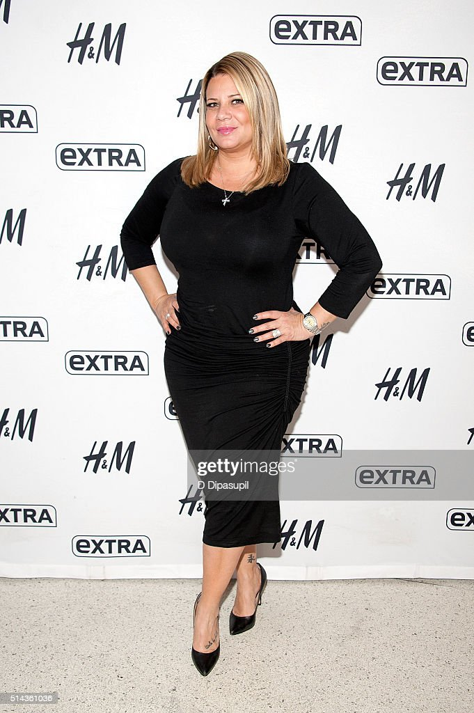 Karen Gravano of 'Mob Wives' visits 'Extra' at their New York studios at HM in Times Square on March 8 2016 in New York City