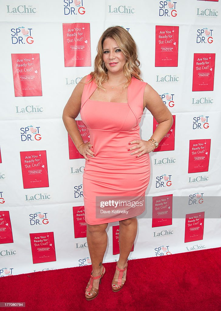 Karen Gravano visits 'On The Spot With Dr.G' at Preserve 24 on August 20, 2013 in New York City.
