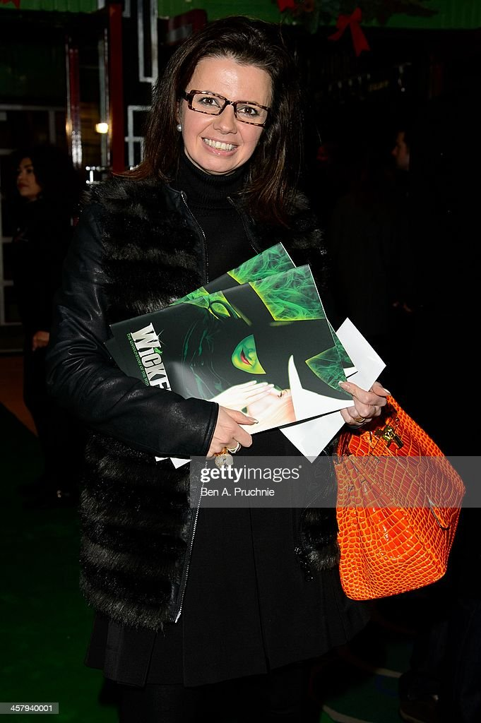 <a gi-track='captionPersonalityLinkClicked' href=/galleries/search?phrase=Karen+Hardy&family=editorial&specificpeople=3690013 ng-click='$event.stopPropagation()'>Karen Hardy</a> attends the press night for 'Wicked' at Apollo Victoria Theatre on December 19, 2013 in London, England.