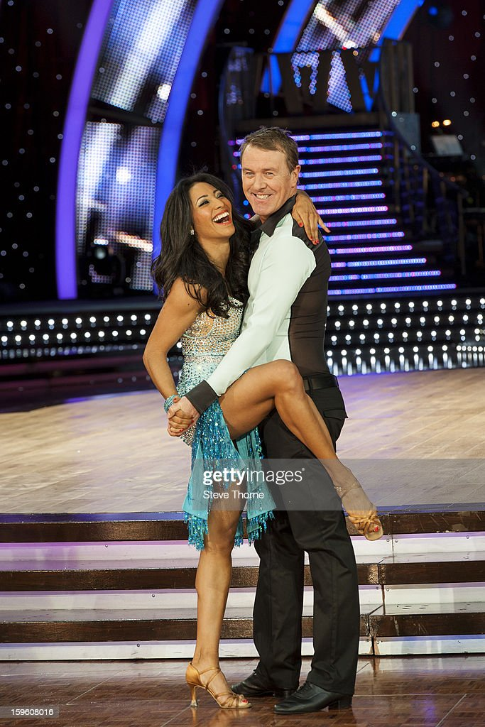 Karen Hauer and <a gi-track='captionPersonalityLinkClicked' href=/galleries/search?phrase=Phil+Tufnell&family=editorial&specificpeople=241482 ng-click='$event.stopPropagation()'>Phil Tufnell</a> attend a photocall ahead of the Strictly Come Dancing Live Tour at NIA Arena on January 17, 2013 in Birmingham, England.
