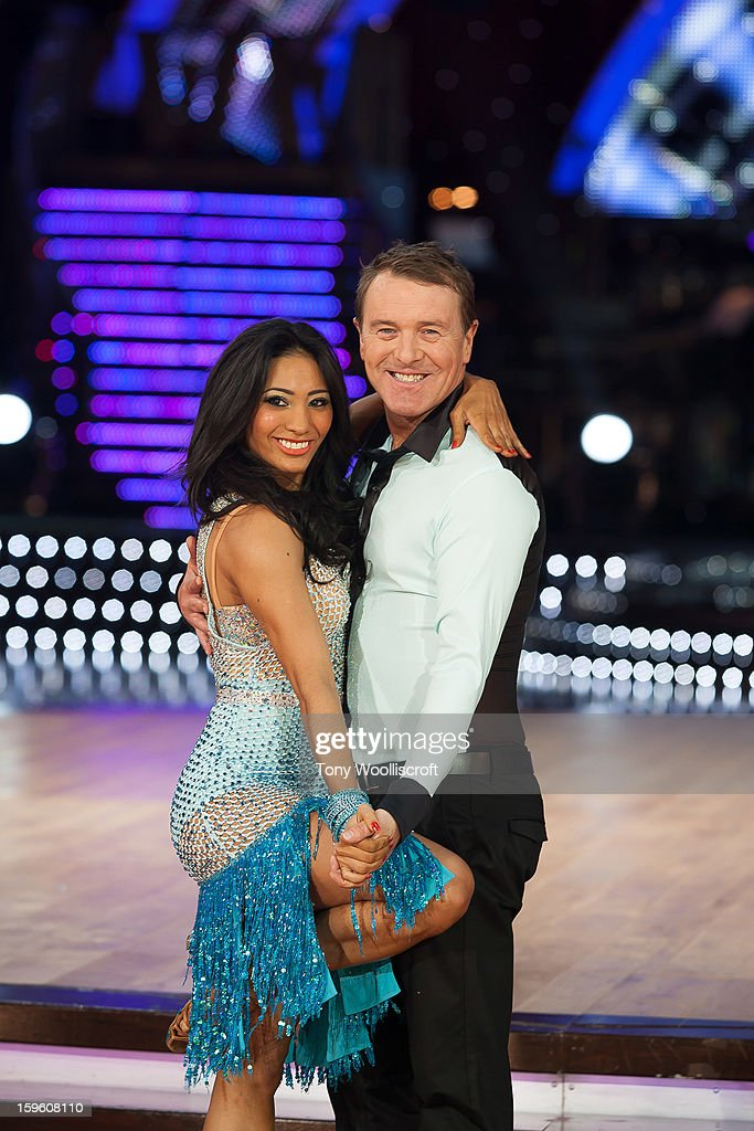 Karen Hauer and <a gi-track='captionPersonalityLinkClicked' href=/galleries/search?phrase=Phil+Tufnell&family=editorial&specificpeople=241482 ng-click='$event.stopPropagation()'>Phil Tufnell</a> attends a photocall ahead of the Strictly Come Dancing Live Tour at NIA Arena on January 17, 2013 in Birmingham, England.