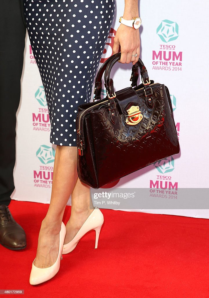 Karen Hauer (bag detail) attend the Tesco Mum of the Year awards at The Savoy Hotel on March 23, 2014 in London, England.