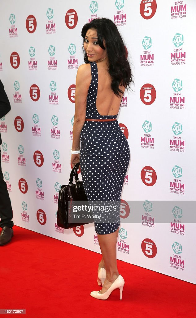 Karen Hauer attend the Tesco Mum of the Year awards at The Savoy Hotel on March 23, 2014 in London, England.