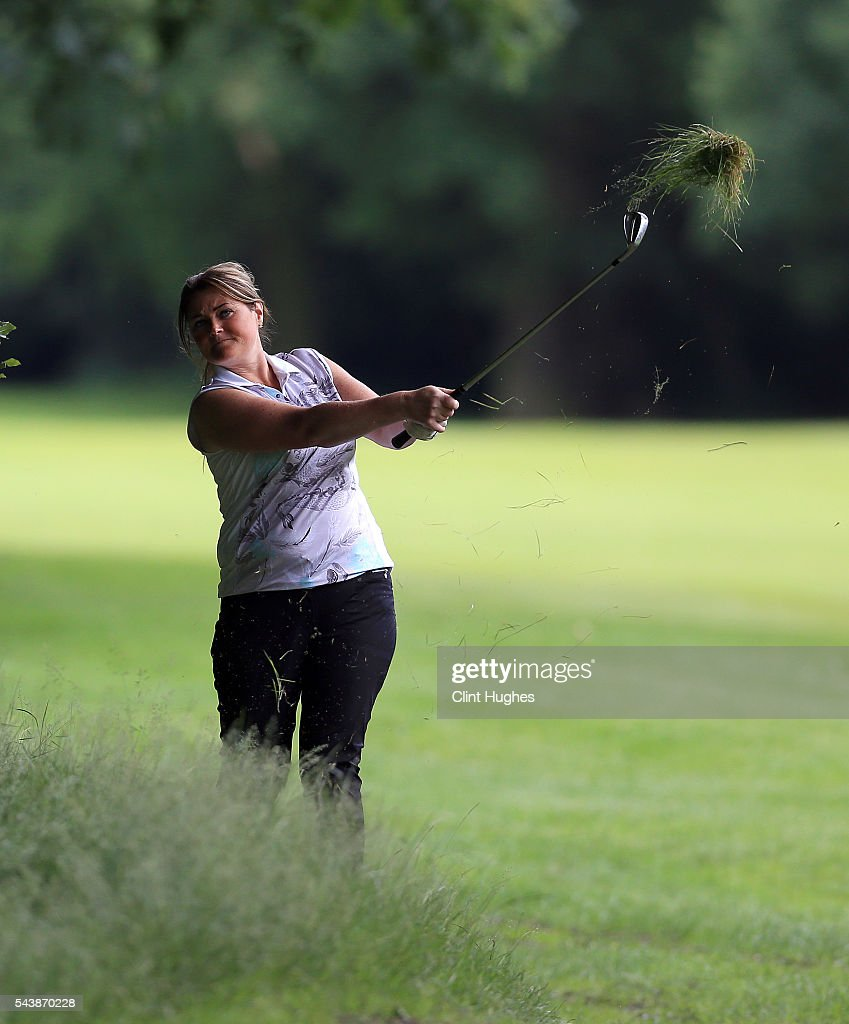 Karen Heywood of Brookdale Golf Club plays an approach shot during the PGA National Pro-Am North Qualifier at Dunham Forest Golf Club on June 30, 2016 in Altrincham, England