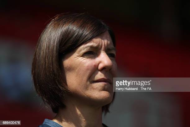 Karen Hills manager of Tottenham Hotspur before the FA Women's Premier League Playoff Final between Tottenham Hotspur Ladies and Blackburn Rovers...