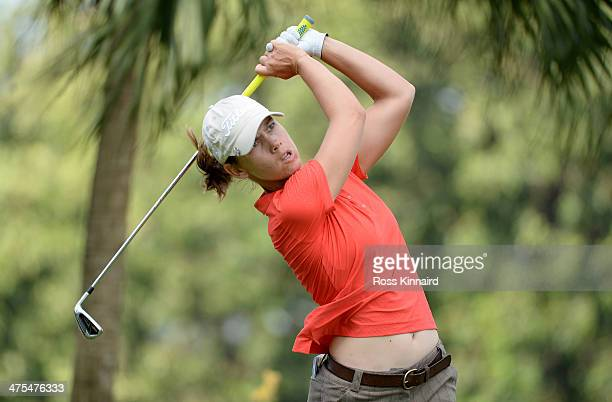 Karen Icher of France during the second round of the HSBC Women's Champions at the Sentosa Golf Club on February 28 2014 in Singapore Singapore