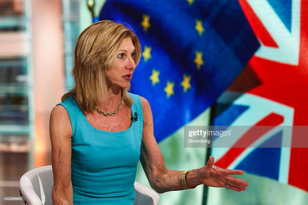 Karen 'Kari' Firestone, co-founder and chief executive officer Aureus Asset Management LLC, speaks during a Bloomberg Television interview in New York, U.S., on Monday, June 27, 2016. Firestone discussed the fallout from the Brexit and her investment strategy. Photographer: Chris Goodney/Bloomberg via Getty Images