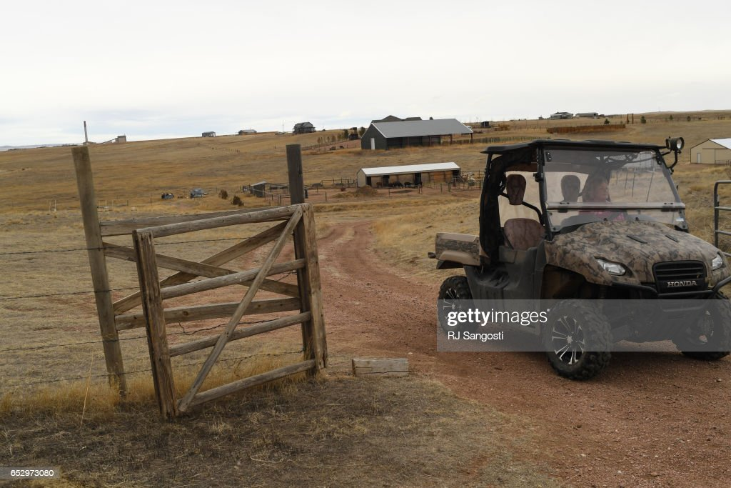 Karen Kinyon drives back to her house, in Wellington, after checking on her alpacas and lamas, March 13, 2017. Kinyon will join others at the Alpaca Owners Association National Show later this week in Denver.