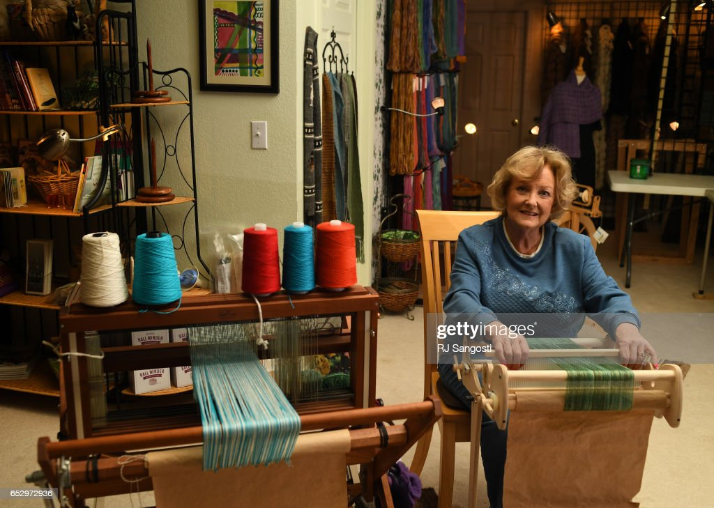 Karen Kinyon has a studio in her home, in Wellington, where she creates handmade alpaca garments and teaches classes on the art of alpacas and their fibers, March 13, 2017. Kinyon will join others at the Alpaca Owners Association National Show later this week in Denver.