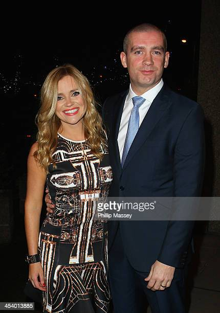 Karen Koster and John Mcguire appear on the Late Late Show on December 6 2013 in Dublin Ireland