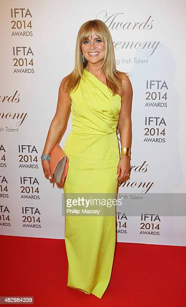 Karen Koster attends the Irish Film And Television Awards on April 5 2014 in Dublin Ireland
