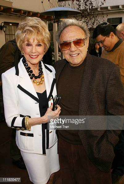 Karen Kramer and Hollywood car creator George Barris arrives at the new Stanley Kramer Theater opening held at Sunset Gower Studios on January 30...