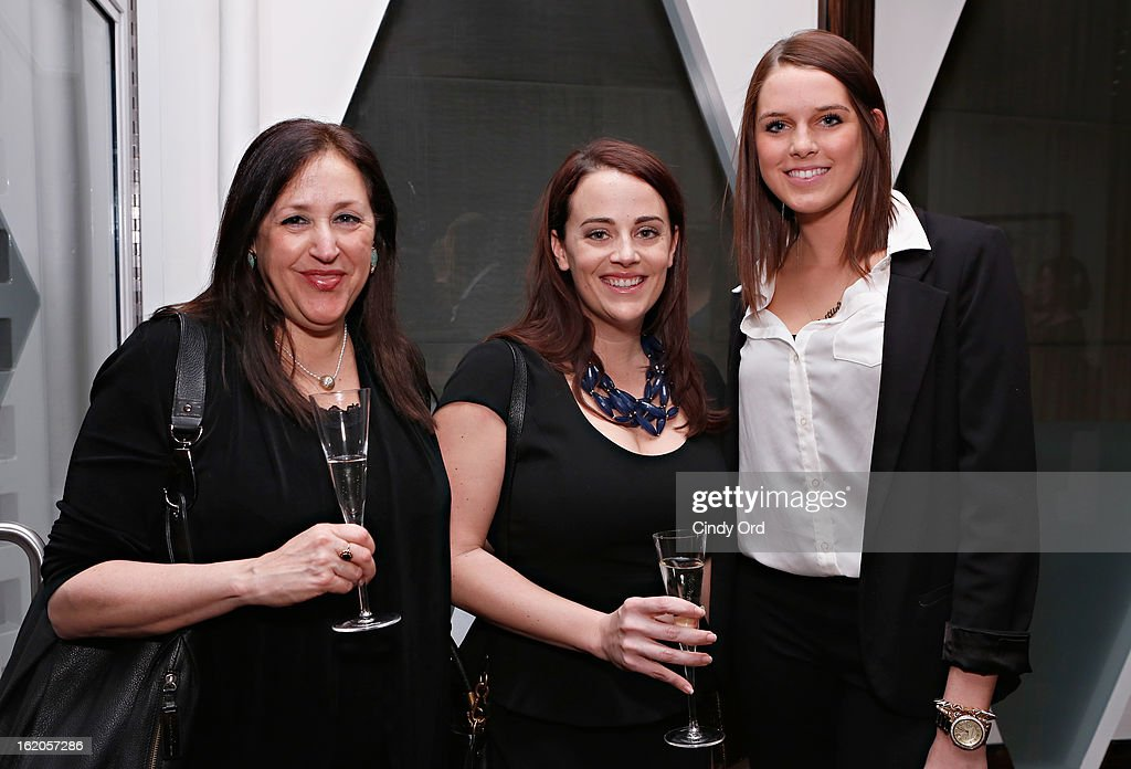 Karen Levine, Danielle Puccio and Caitlin Dennison attend the Gotham Magazine & Moroccanoil Celebrate With Step Up Women's Network event on February 18, 2013 in New York City.