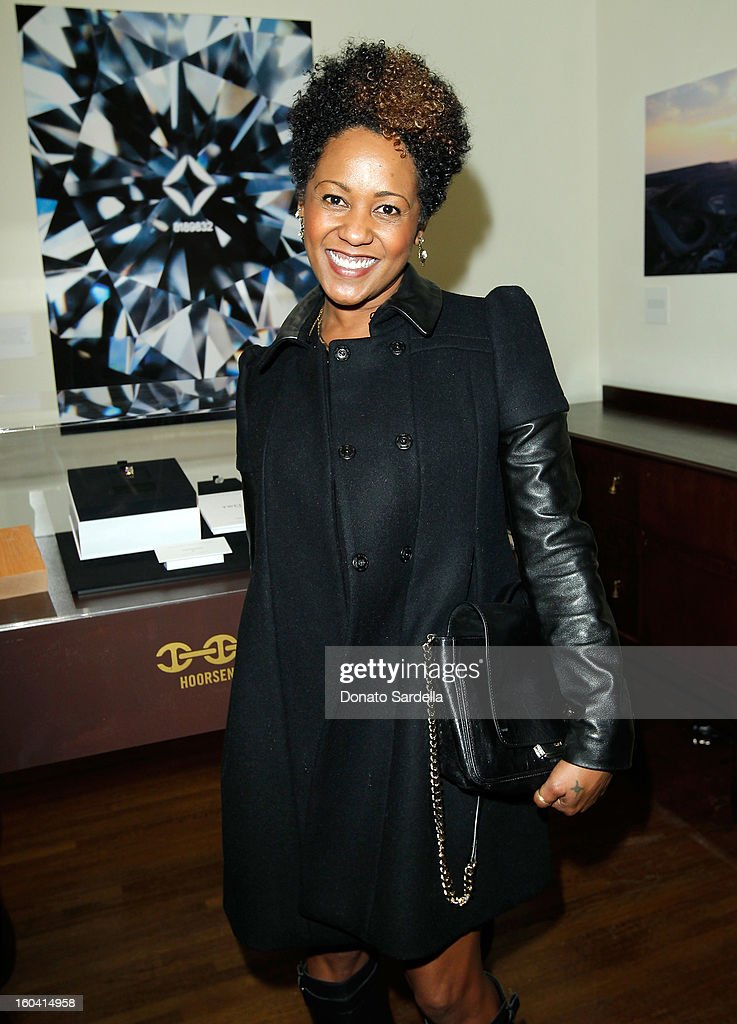 Karen Marley attends Hoorsenbuhs for Forevermark Collection cocktail party at Chateau Marmont on January 30, 2013 in Los Angeles, California.