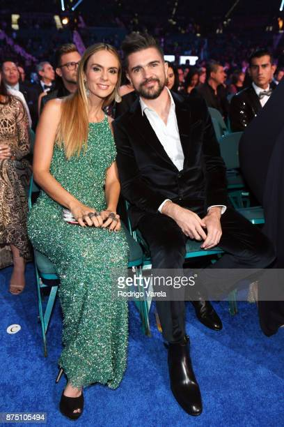 Karen Martinez and Juanes attend The 18th Annual Latin Grammy Awards at MGM Grand Garden Arena on November 16 2017 in Las Vegas Nevada