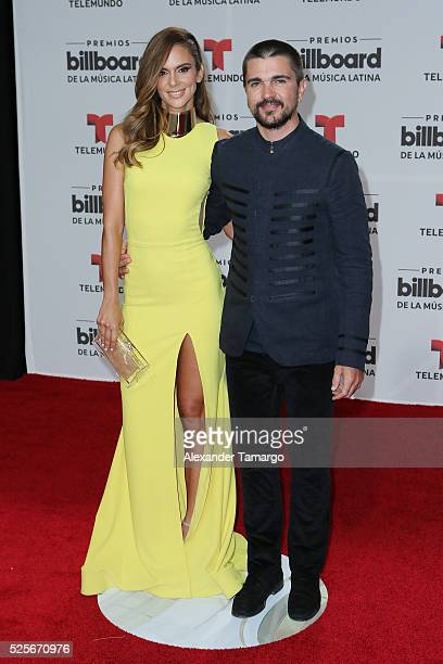 Karen Martinez y Juanes attend the Billboard Latin Music Awards at Bank United Center on April 28 2016 in Miami Florida