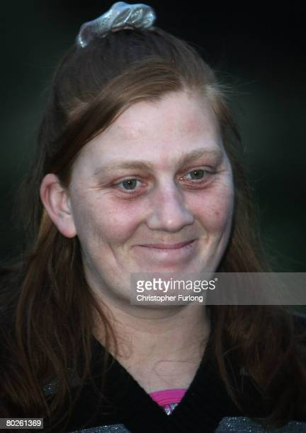 Karen Matthews mother of Shannon Matthews poses for photographers outside their home in Moorside Road Dewsbury near Leeds on March 15 Dewsbury...