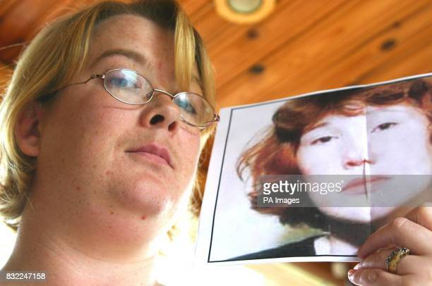Karen Meek holds a picture of Maxine Carr the exgirlfriend of Soham double childkiller Ian Huntley who she has been mistaken for