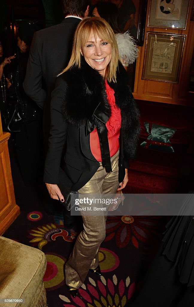 Karen Millen attends a private dinner hosted by Fawaz Gruosi, founder of de Grisogono, at Annabels on April 28, 2016 in London, England.